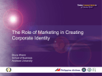 The Role of Marketing in Creating Corporate Identity Bruce Wrenn
