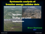 Systematic analysis of frontier energy collider data