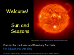 Sun PowerPoint - LPI - Lunar and Planetary Institute