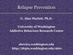 Relapse Prevention Presentation Slides