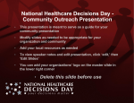 NHDD community outreach PowerPoint presentation