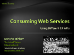 Consuming Web Services
