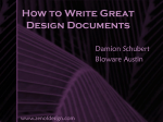 How to Write Great Design Documents