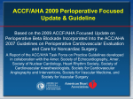 ACC / AHA 2007 Guidelines on Perioperative Cardiovascular