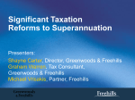 Significant Taxation Reforms to Superannuation