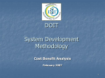 SDM Cost Benefit Analysis Feb 2007