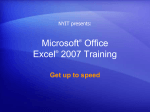 Microsoft® Office Excel® 2007 Training