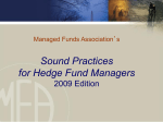 MFA's Sound Practices For Hedge Fund Managers 2007