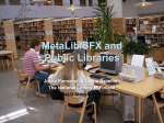 MetaLib/SFX and Public Libraries - The National Library of Finland