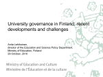 University governance in Finland: recent developments and