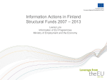 Information actions in Finland. Structural Funds 2007