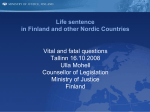 Life sentence in Finland and other Nordic Countries