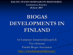 experiences on biogas production in finland