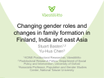 Changing gender roles and changes in family formation in Finland