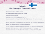 Finland – the Country of Thousands Lakes