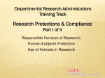 Research Compliance I