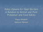 Policy Options for Open Borders in Relation to Animal and Plant