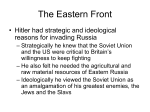 Eastern Front/Stalingrad Lecture