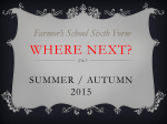 Where Next? Summer / Autumn 2014