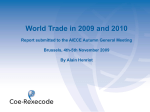 World Trade in 2009 and 2010 - AIECE autumn - Coe
