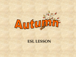 Autumn PowerPoint for ESL