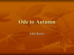 Ode to Autumn -modified version