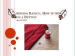 Sewing Basics: How to Sew on a Button