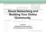 Social Networking and Building Your Online
