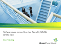 Software Assurance Voucher Benefit (SAVB)Online Tool