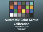Automatic Color Gamut Calibration
