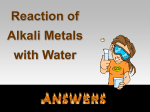 Reaction of Alkali Metal with Water Lab Answers