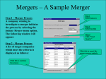 Mergers – A Sample Merger