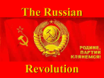 Russian Revolutions 1905 - 1917 - Rocklin Unified School District