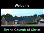 Creation or Evolution - Evans Church of Christ