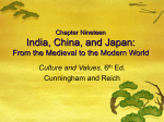 Chapter Nineteen India, China, and Japan: From the Medieval to the