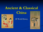 Chap 2 Classical China