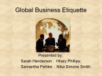 International Business Etiquette and Manners