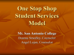 One Stop Shop Student Services Structure