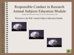 Responsible Conduct in Research Animal Subjects Education Module