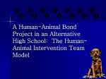 A Human-Animal Bond Project in an Alternative High School: The