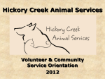 Volunteer Orientation - Hickory Creek Animal Shelter
