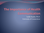 The Importance of Health Communication