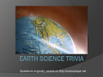 Earth Science Trivia powerpoint