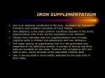 IRON SUPPLEMENTATION