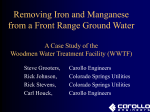 Removing Iron and Manganese from a Front Range Ground Water