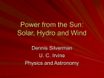 Power from the Sun - Physics and Astronomy