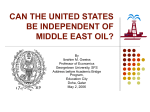 US Dependency on Middle East Oil