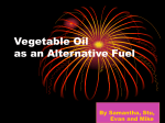 Vegetable Oil as an Alternative Fuel