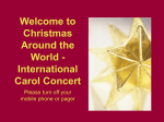 Christmas Around the World - International Carol Concert