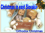 Christmas on the east Slovakia